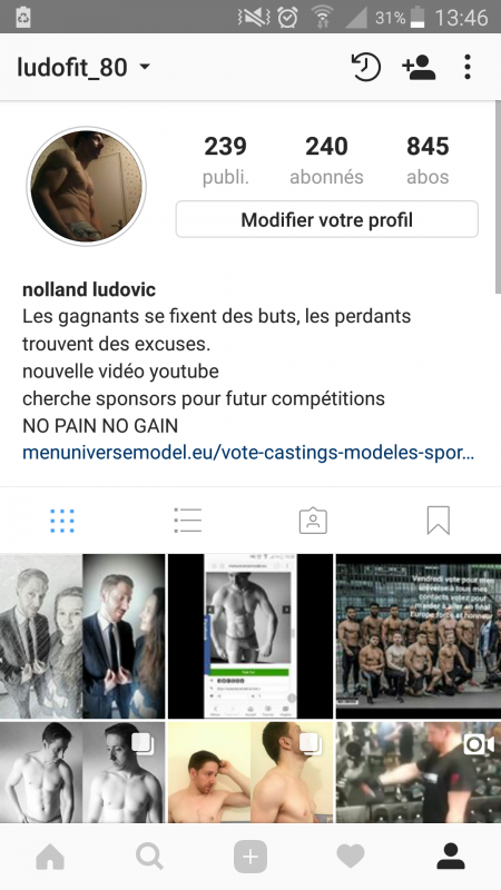 Vote Men universe sur instagram