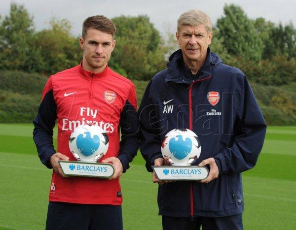Ramsey élu meilleur joueur de Pl du mois de septembre et Wenger élu meilleur manager de Pl de ce même mois.