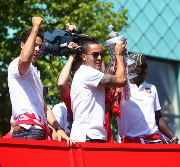 theo with the cup
