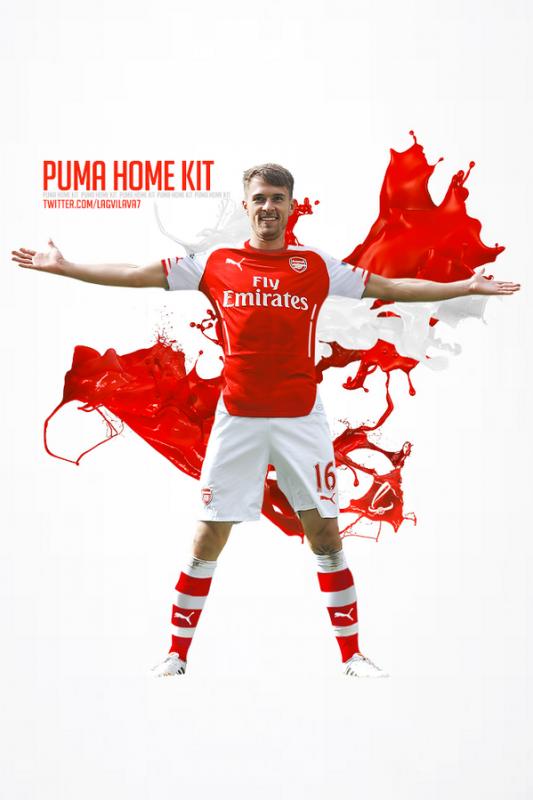 Un montage de Lagvilava qui nous montre ce que donnerait le nouveau maillot domicile porté par Ramsey.