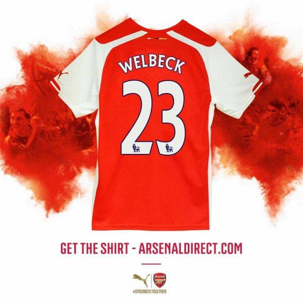 Danny Welbeck portera le n°23.