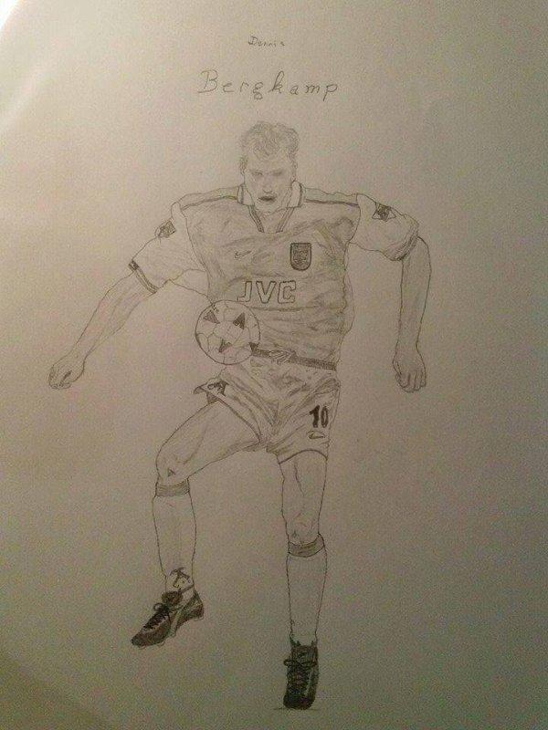 Dennis Bergkamp dessiné par Thomas Diereman.