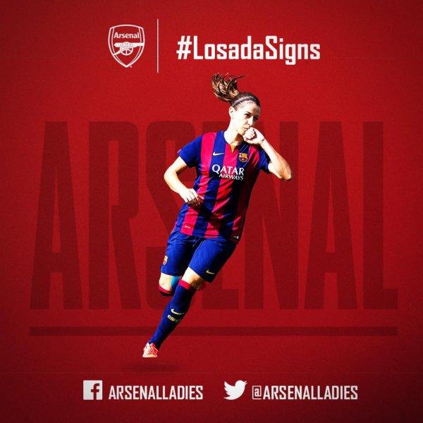 je suis ravis d'annoncer la signature de l'Espagne internationale Vicky Losada du FC Barcelone