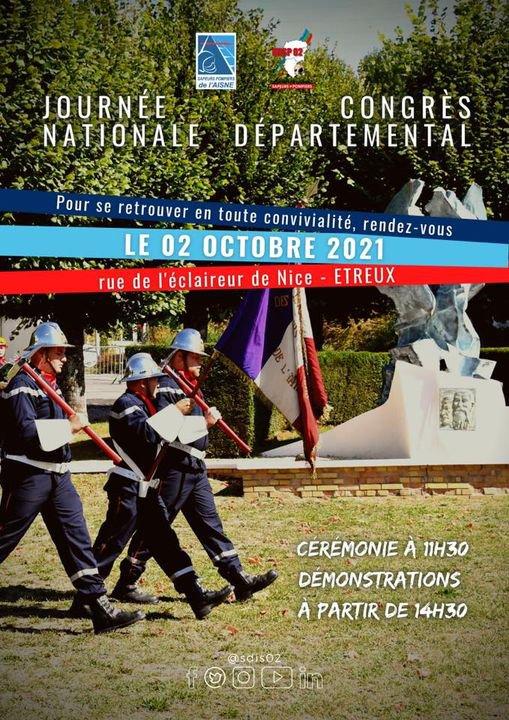 Congrès Départemental des Sapeurs-Pompiers de l'Aisne à Etreux le 2 octobre 2021