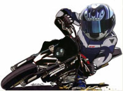 Dessin De Motard dessin de moto 2 - motard en force !! regarde bien dans tes retros