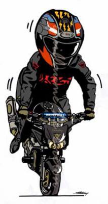 Dessin de moto 4 motard en force regarde bien dans - Dessin de motard ...