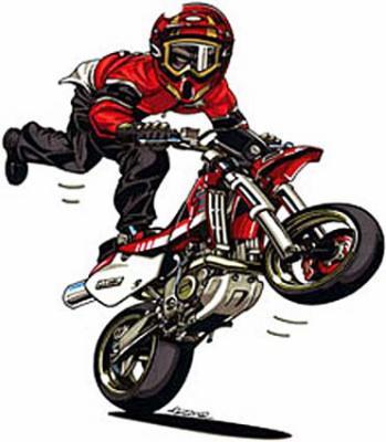 Dessin de moto 5 motard en force regarde bien dans - Dessin de motard ...