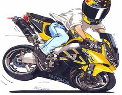 Dessin De Motard dessin de moto 6 - motard en force !! regarde bien dans tes retros
