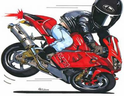 Dessin de moto 7 motard en force regarde bien dans - Dessin de motard ...