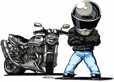 Dessin De Motard dessin de moto 19 - motard en force !! regarde bien dans tes retros