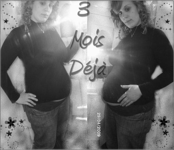Top Moi il y a 3 mois de grossesse..et OUI deja un gros bidou  EP01