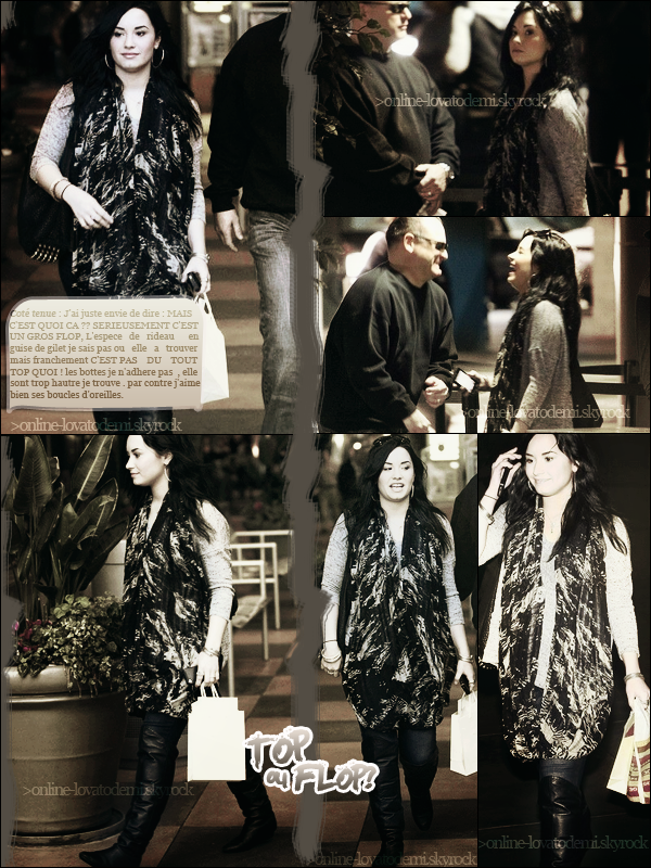 30/01/11 : Demi faisant du shopping a Los Angeles .