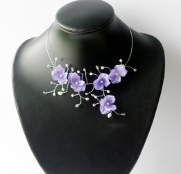 Collier Eternel mauve