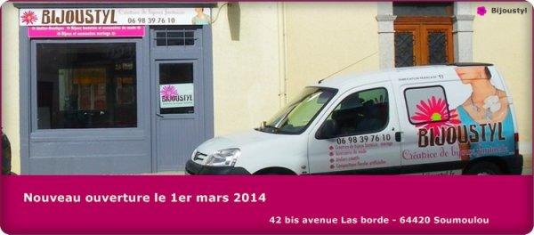 Ouverture de la boutique Bijoustyl à Soumoulou 64420