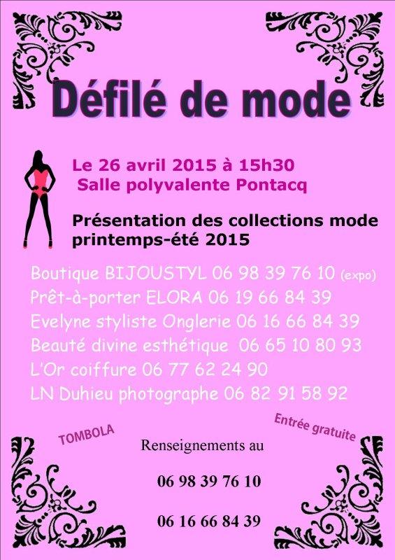 Défilé de mode le 26 avril