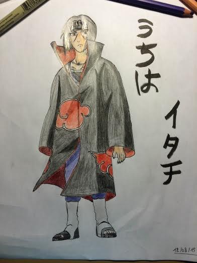 Mes dessins : Itachi, deuxième partie !