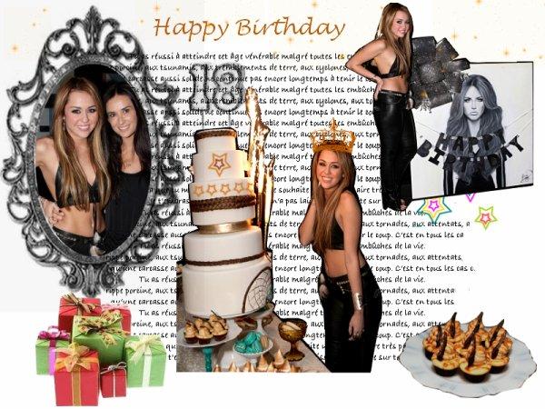 Happy 18th Birthday Miley Cyrus
