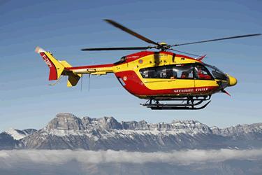 helico civil EC145 jaune