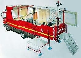 Véhicule poste de commandement mobile à cellule extensible