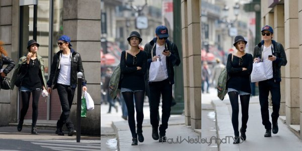 Paul Wesley & Torrey DeVitto A Paris