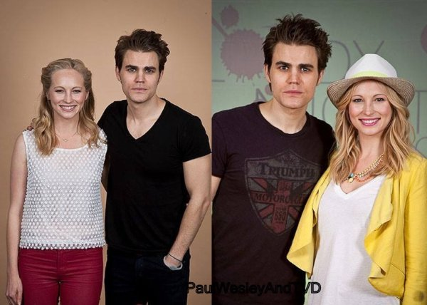 Photo Twitter De Kat Graham Avec Paul Wesley + Paul Wesley Aux Conventions Avec Candice Accola && Paul Wesley A Cannes Le 21.05.13
