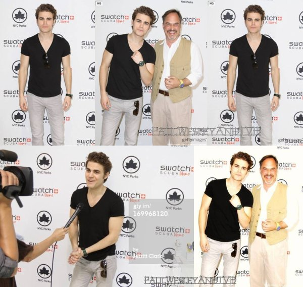 Paul Wesley Aperçu Aujourd'hui Dans Les Rues De New-York && Paul visiting Chelsea Recreation Center | 5th June 2013 ++ Paul W. Avec Les Acteurs De TVD