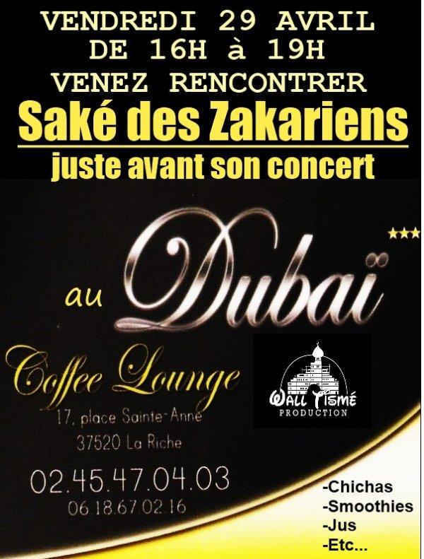 Saké des Zakariens en concert à Tours!