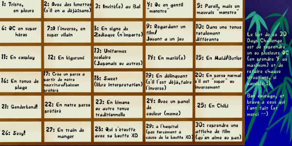 30 Days Challenge #ChallengedelaMikoumi