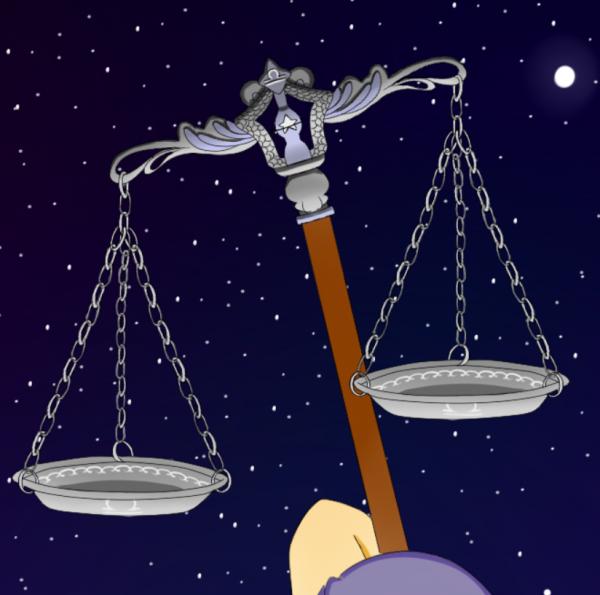 Personnification de la Balance