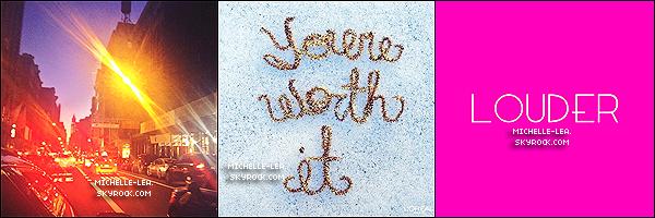 . ______●● ●LOUDER IS OUT ! ● . Louder le 3ème single de l'album de Lea Michele intitulé «LOUDER » est enfin sortie! En effet c'est le site Billboard qui à mis fin à notre attente en dévoilant le titre sur la toile. Je peut déjà vous dire que cette chanson sera surement une de mes préférée de l'album qui promet d'être exceptionnel! .