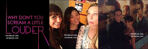 . 15/01/14 : Lea a été à l'avant-première de Looking la série de Jonathan Groff son BF à L.A. .