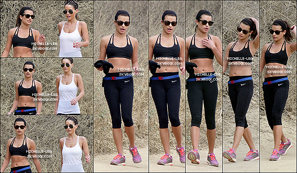 . 19/01/14 : Lea a été à faire un petite randonnée avec une amie à  Los Angeles.  .
