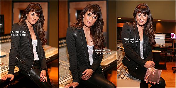 . 26/02/14 : Lea Michele à la fête d'écoute de son album Louder au Pulse Recording à L.A . .