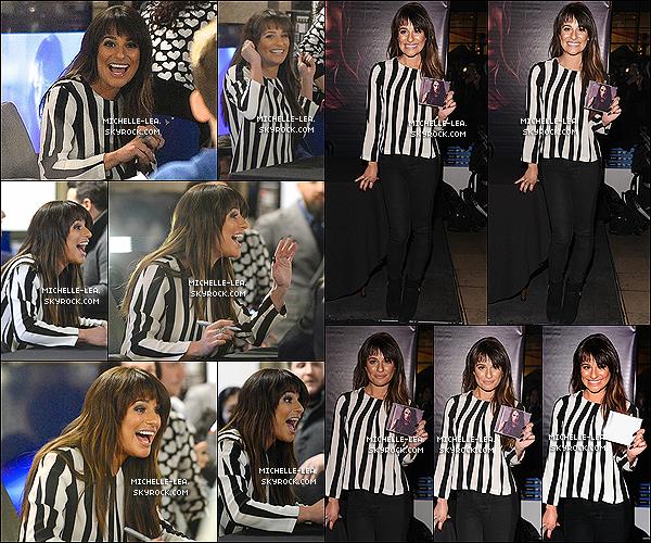 . 04/03/14 : Lea a été à la séance dédicase de son album LOUDER au SONY Store. à New-York City. Lea est rayonnante c'est un top pour le tenue et j'aime voir Lea heureuse comme ça ! Ton avis ? .