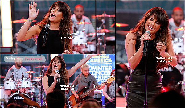 . 05/03/14 : Lea a été de bon matin sur le plateau du Good Morning America pour la promo de Louder . Lea porte toujours du noir à croire qu'elle à amener que ça dans sa valise. Lea superbe sinon ! Ton avis ? .