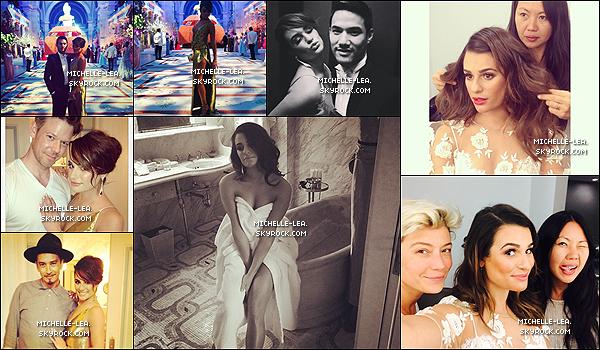 . 05/05/14 :  Lea était présente à l'événement MET Gala 2014  et a posée avec Dianna Agron à NYC  . Un joli top pour notre Lea, sa robe or est juste magnifique la coiffure à tomber! Lea est très classe comme à son habitude !   .