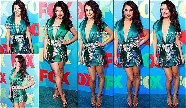 . 12/05/14:  Lea Michele était présente au Fox UpFront  comme chaque année à New York City   .  La tenue de Lea est juste parfaite je trouve que c'est encore un magnifique Top ! Ton avis sur cette sortie?   .