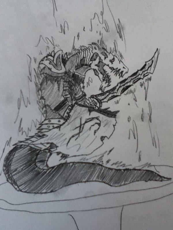 Nouveau RPG (avec brouillons d'un monstre fait par mon graphiste