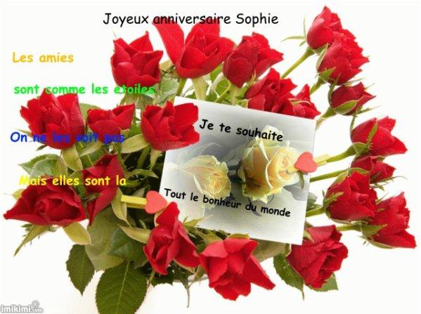Joyeux Anniversaire Sophie Je Me Prénomme Claudine Et Je