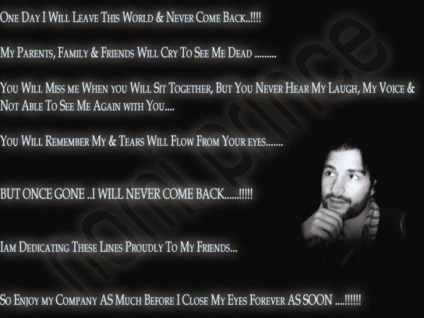 """Message To My Dear Friends"""