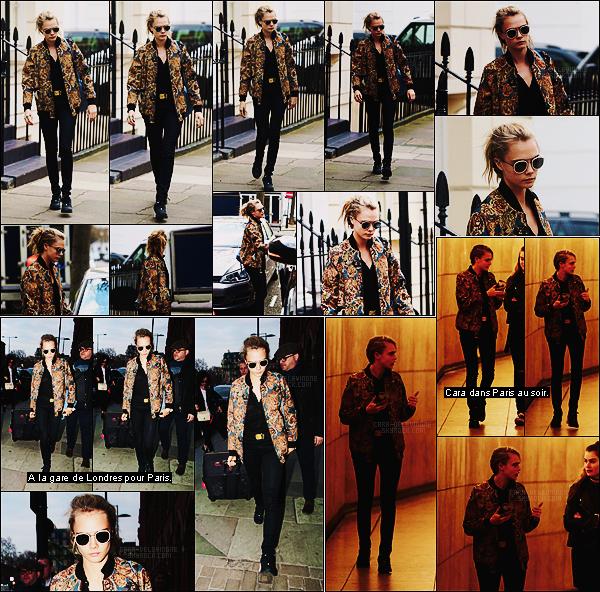 22/03/16 - Cara Delevingne continue sa journée en quittant la demeure familiale - située dans Londres.  Nouvelle tenue pour Cara, j'aime beaucoup celle-ci, elle se rattrape vraiment de celle portée au matin. Qu'en pensez-vous ? Top ou Flop ?