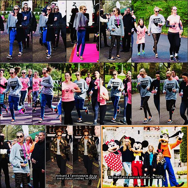 23/04/16 - Cara Delevingne a participé à une course avec sa famille au Battersea Park dans Londres.  Tenue de sport pour Cara qui s'est d'ailleurs accordée la folie d'en changé entre temps. J'aime bien son sweat entre autre. Top ou Flop ?