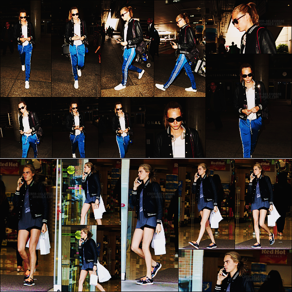 04/06/16 - Cara Delevingne a été aperçue alors qu'elle arrivait à l'aéroport de LAX dans Los Angeles.  Le 14/06, miss Cara Delevingne était de sortie pour une séance shopping dans les rues de Beverly Hills. Côté tenue, ça sera des bofs.