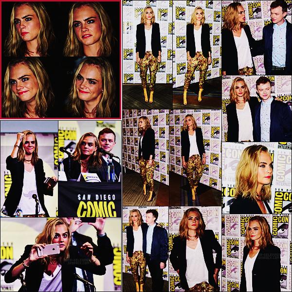 . ● Le 21/07, Cara Delevingne était à la Comic-Con de San Diego pour son film Valérian  .