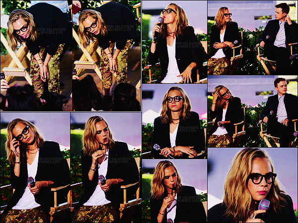 . ● Cara Delevingne était à la Comic-Con de San Diego pour le panel de Valérian,c'était le 21/07  .