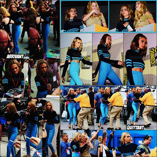 . ● Cara Delevingne était à la Comic-Con de San Diego pour le film Suicide Squad , le 23/07 !  .