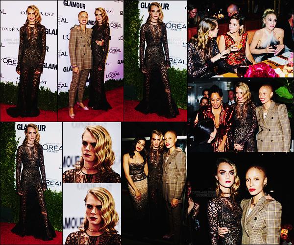 . ● Cara Delevingne est allée aux Glamour Women of the Year  à Los Angeles, c'était le 14/11 !  .