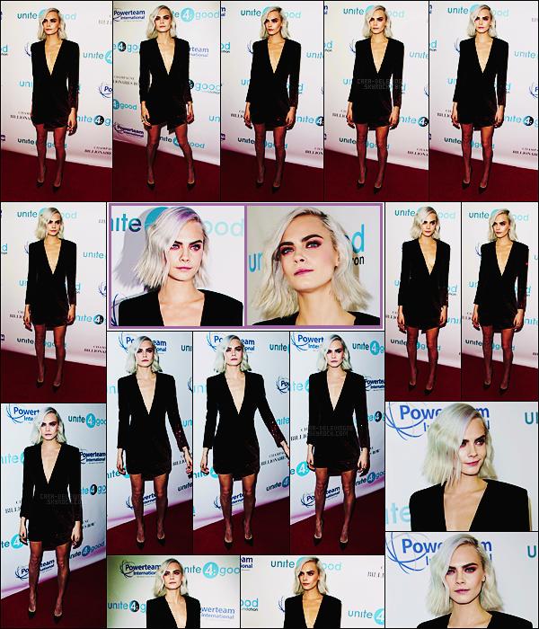 . ● Le 07/04, Cara Delevingne était au gala Unite4 Humanity qui s'est déroulé - à Los Angeles.  .