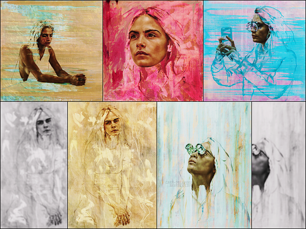 .  Le peintre Jonathan Yeo a réalisé plusieurs portraits de notre sublime Cara Delevingne.  .