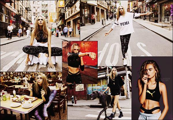 .  Nouvelles photos de notre belle Cara Delevingne pour la campagne de la marque Puma.  .